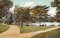 Minneapolis Minnesota~Split Paths @ Loring Park~Nice Flora, Trees 1914 Rotograph
