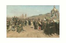 More details for ilya repin - cross procession in the kursk government 1880/1883 print 61x91.5cm