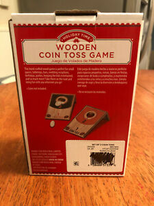 Wooden Coin Toss Game by Holiday Time
