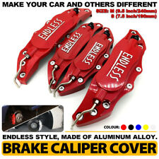 4PCS/Set 3D Red ENDLESS Style Car Universal Disc Brake Caliper Covers Kit M+S