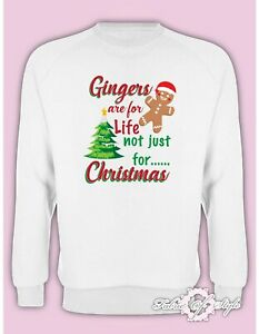 Gingers Are For Life Not Just For Christmas  Value Xmas SANTA GIFT Jumper White
