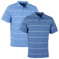 Callaway Golf Mens Chev Auto Stripe Polo Shirt Opti-Dri Short Sleeve 53% OFF RRP