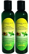 2Pack - Basil Infused Sunflower Carrier Oil - Unrefined 100% Cold-Pressed - 4oz