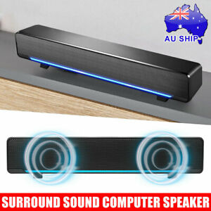 Wired TV PC Computer Speakers Stereo Surround Sound Speaker USB 3.5mm Subwoofer