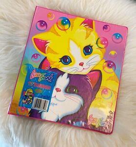 """""""NEW"""" Vintage 1990s Lisa Frank Pink Bubbles Kittens Trapper Keeper Binder Folder"""