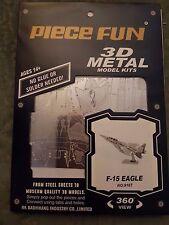 F-15 Eagle Kit In Metallo 3D Fascinations FAMMS082 Model,neu