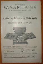 CAT 37 CATALOGUE LA SAMARITAINE 30 pages 1910 HORLOGERIE OPTIQUE BIJOUTERIE etc