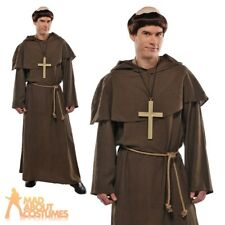 Adults Friar Tuck Costume Wig Mens Monk Fancy Dress Outfit Religious Stag Fun