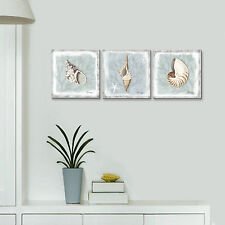 Framed Seashell Artwork Conch Paintings Print on Canvas Wall Art for Home Decor