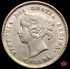 1887 Canada 5 cents - VF/EF - Lot#1525P
