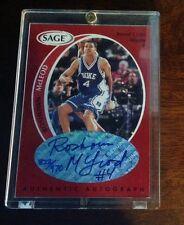 Roshown McLeod 1998 Sage Authentic Autograph Red #/970 Duke Blue Devils RARE