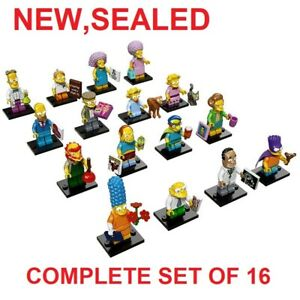 New Sealed COMPLETE 16 Bags LEGO 71009 Collectible Minifigures Simpsons Series 2