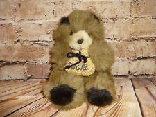 """""""Sugar"""" Bear Bag Teddy Plush Ace Novelty Brown Baby Cub Stuffed Animal Toy 8"""""""