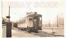 8G730 RP 1947 CSS&SB SOUTH SHORE RAILROAD  CAR #19  MICHIGAN CITY IN