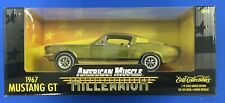 ERTL American Muscle Millennium 1967 Ford Mustang GT Gold 1:18 Die Cast 32239