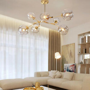 Modern Ceiling Lights Glass Chandelier Lighting Gold Lamp Kitchen Pendant Light