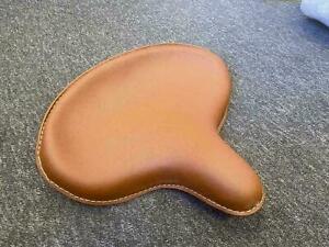 HARLEY WLA WLC VL UL WL KNUCKLEHEAD BROWN SOLO SEAT FLATHEAD LEATHERITE