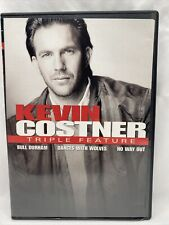 Kevin Costner Triple Feature 3 DVD Set Bul Durham Dances With Wolves No Way Out