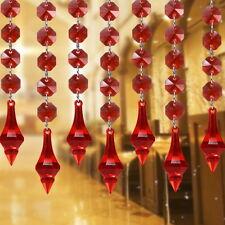 10pcs String Curtain Acrylic Crystal Beads Garland Hanging Wedding Party Decor