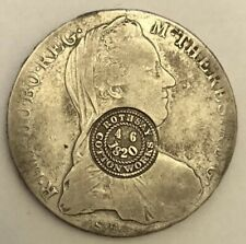 Austria Maria Theresa 1780 One Thaler Counter+Stamp Rothsay Mill UseTrade Dollar