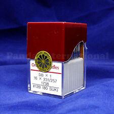 1 Box of 100 Orange DBX1 16X231/257 Industrial Sewing Machine Needles, Size 12B