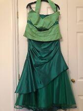 LINEA RAFFAELLI ~STUNNING Green SILK & NET 3 Piece WEDDING/PROM/CruIse 12-14