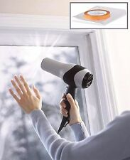 Película De Vidrio De Doble Acristalamiento Ventana & Kit De Aislamiento Cinta de tiro Windows 6sqm