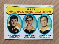 NHL PHIL ESPOSITO Orr Bucyk Bruins 71-72 Topps Scoring Leaders Trading CARD #3