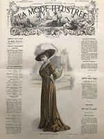 MODE ILLUSTREE SEWING PATTERN Nov 28,1909 - Evening dress, wool dress...