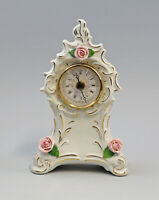 9959587 Porzellan Uhr Ens Blume rosa 14x7x23,5cm
