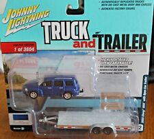 2018 JOHNNY LIGHTNING Truck and Trailer 2006 CHEVY HHR with Open Car Trailer R3A