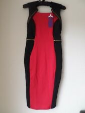 Amy Childs Collection With Black & Red Contrast Dress Panel Size 10