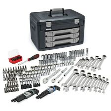 "232 Piece 1/4"", 3/8"" Drive Metric & SAE Mechanics Hand Tool Set KDT80944 New!"