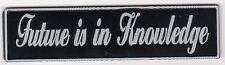 Fiik Electric Skateboards Future Is In Knowledge Black & Silver Hard Sticker