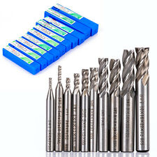 10pcs HSS Aluminum 4 Flute End Mill CNC Tools Milling Drill Bits Cutter 2-10mm