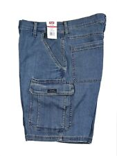 New Wrangler Denim Cargo Shorts All Men's Sizes Medium Wash 7 Pockets