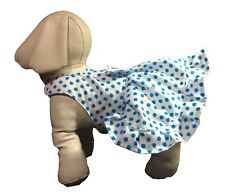 Dog Sundress Aqua Dot on White