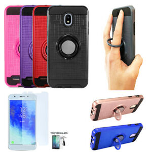 Phone Case For Samsung Express Prime 3 / Amp Prime 3 Shock Absorbing Cover Ring