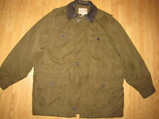 Woolrich Brown Leather Collar Barn 3/4 Jacket - Coat Large EUC