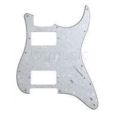 Electric Guitar Pickguard For Strat Replacement HH 2 Humbucker White Pearl 3Ply