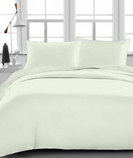 """Fitted Sheet , 1000 TC, Drop 15"""" Inch, Queen Size - Ivory Solid"""