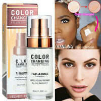 TLM Color Changing Foundation Cover Concealer Makeup Base Nude Foundation Liquid
