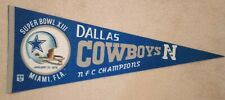 Dallas Cowboys Super Bowl XIII NFC Champions Pennant Full Size Helmet
