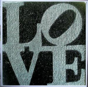 ROBERT INDIANA >WINTER-LOVE< Multiple,Sisal, 2006, 52x53 mit Rahmen + Zertifikat