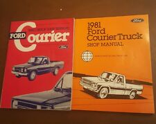 1980 & 1981 Ford Courier Truck Shop Repair Manuals Lot OEM Engine Body Chassis