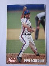 New York Mets 1991 Schedule John Franco on Front Ex/Nr Mt