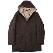 NWT $6200 CESARE ATTOLINI Quilted Parka with Cashmere Lining M (Eu 50) Coat