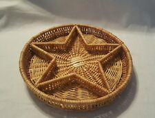 """2""""Tall X 13""""Across, Large Round Basket  with a Star inside"""