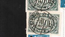 Germany Inflation 1 Platenfehler 256f41 & 5 Normal 500M & 3x30k Leipzig 1923 z73
