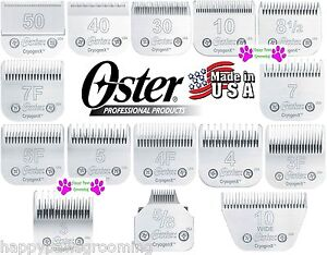 OSTER PRO Cryogen-X BLADE*17 SIZES*Fit A5/A6 Many Andis,Wahl,Laube,Moser Clipper